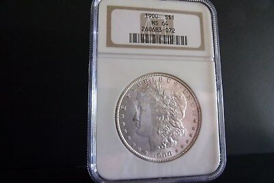 1900-P Morgan Silver Dollar- NGC MS64-BLAST WHITE COIN!