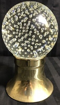 Rare Antique Hand Blown Pairpoint Glass Globe Crystal Ball Newel Post Top Finial