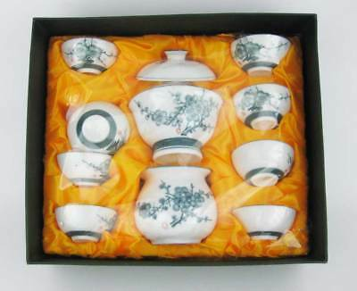 Japanese Tea Set New In Box (12 pcs) Cups, Creamer, Covered Sugar All Signed!