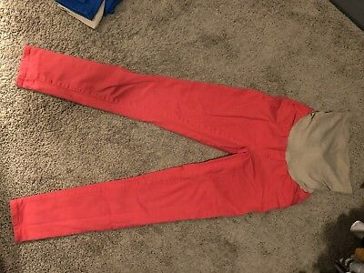 Red Maternity Pants S Jessica Simpson
