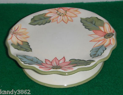 Longaberger Sunflower Candleholder Mini Cake Plate Sunflowers Candle Holder