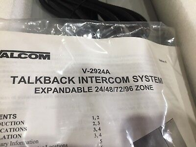 VALCOM V-2924A Expandable Talkback Intercom System - Paging System