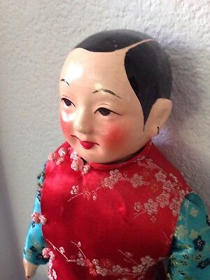 """Vintage Asian / Chinese  Doll 17"""" Tall"""