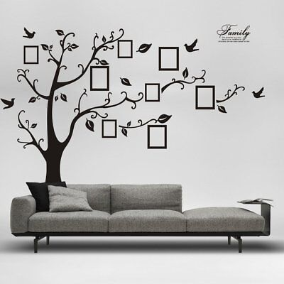 Removable Family Tree Wall Decal Sticker Large Vinyl Photo Picture Frame HH5571