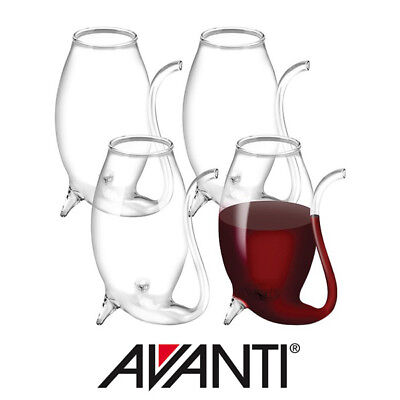 Avanti Glass Port Sippers: Hand Blown Wine Glasses Set of 4 - 75ml