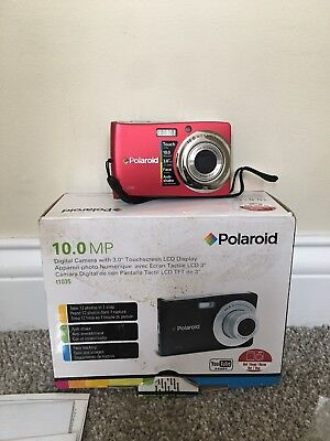 Polaroid T1035 10.0MP Digital Camera - Red Rechargeable