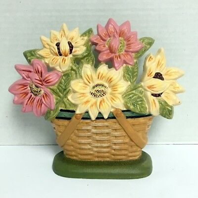 NEW Longaberger Cast Iron Flower Basket Door Stop