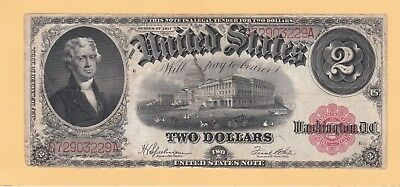 1917 $2.00 United States Note Fr-60 In Vf Condition