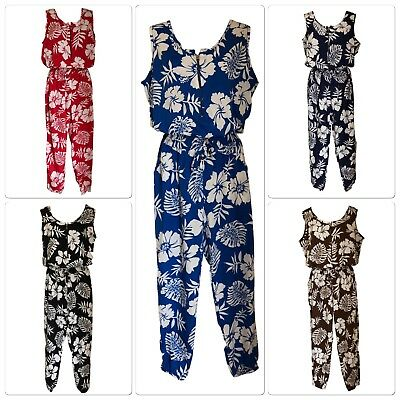 Fabulous FLORAL Print Sleeveless Jumpsuit, All In One  - SIZES 8 -16