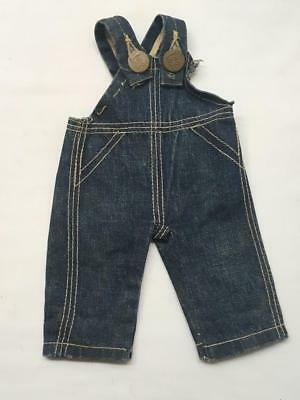 Early Pair of Vintage Buddy Lee DENIM JEAN OVERALLS -for Buddy Lee Doll