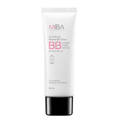 <USA Seller>MiBa Ion Calcium Mineral BB Cream SPF50+ PA+++ 50ml