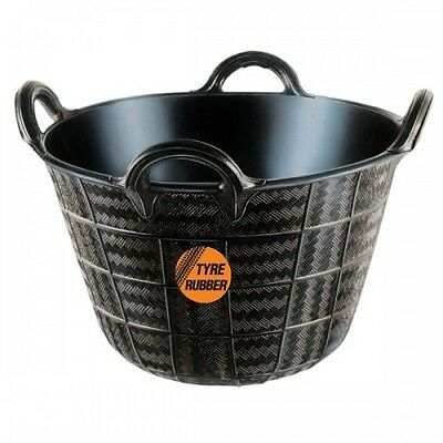Real Rubber 4 Hand Trug Bucket Great To Lift/ Hoist Materials - S T R O N G