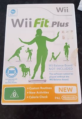 WII FIT PLUS Nintendo Wii Game + Booklet PAL
