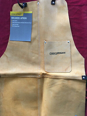 CRAFTRIGHT WELDER'S LEATHER APRON with Big Tool Pocket - New with Tag