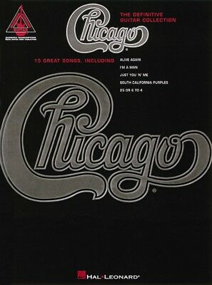 Chicago The Definitive Guitar Collection Sheet Music Guitar Tablature 000690171