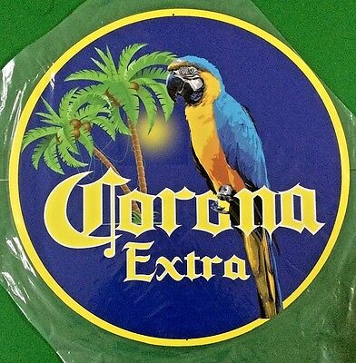 "Corona Extra Parrot 24"" Diameter Metal Sign"