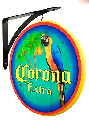 Corona Extra Sign - 12 inch Double sided Parrot sign includes hanging bracket