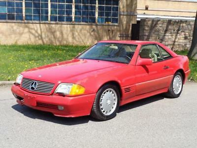 1991 Mercedes-Benz 500-Series 500SL 500-SL HARD TOP CONVERTIBLE 2DR COUPE! NO RESERVE LEATHER MEMORY SEATS KEYLESS ENTRY CD-CHANGER CLEAN RUNS DRIVES GREAT