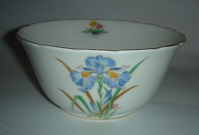 Tuscan Bone China England Bowl ' Blue Iris ' c.1940's Tableware * Combine Post *