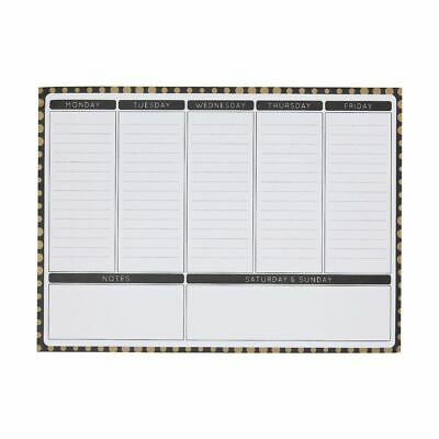 Otto Black and Gold A4 Weekly Planner Deskpad