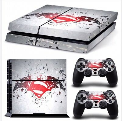 Super man PS4 PlayStation 4 Sticker Vinyl Decal Protector PS4 Skin