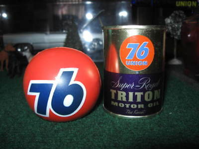 Union 76 Royal Triton  Motor Oil Bank  Vintage Advertising +  Magnetic 76 Ball