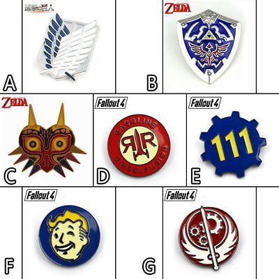 Game Attack on Titan/Zelda Majora's Mask Skyward Sword Metal Badge Pin Brooch
