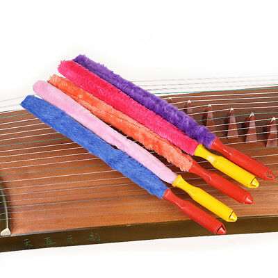 Professional Plush Chinese Zither Musical Instrument Cleaning Brush Cleaner Orna