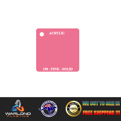 PINK ACRYLIC PERSPEX SHEET 3mm SOLID COLOUR A6/A5/A4/A3/A2/A1/A0 FREE SHIPPIN...