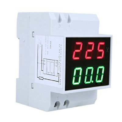 Digital Din-Rail LED Voltage Ammeter Current Meter Voltmeter AC80-300V 0.2- E1X2
