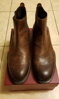 21bc29a4ebc WOLVERINE 1000 MILE Montague Dark Bown Leather Chelsea Boot - Mens 10 D  (W40205)