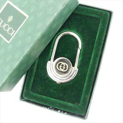 68d123173 Gucci key ring Interlocking Silver Gold Woman unisex Authentic Used T6872