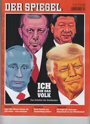 Donald Trump Vladamir Putin Der Spiegel Magazine June 9 2018 No Label German