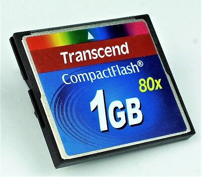CF-Karte 1GB Transcend CompactFlash 80x -High Speed -