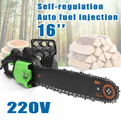 2800W Electric Chainsaw Logging Chain Saw Cutter Pruner Wood Tree Pruning Garden