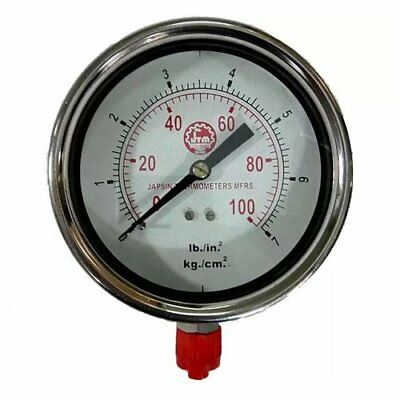 Pressure Gauge SS Body (Size 2.1/2) 0 to 100 PSI