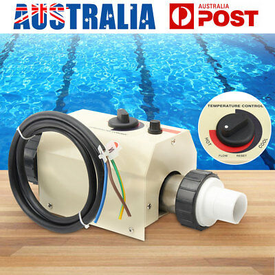 2KW Water Swimming Pool&SPA Hot Tub Bath Heater Thermostat Electric Heating