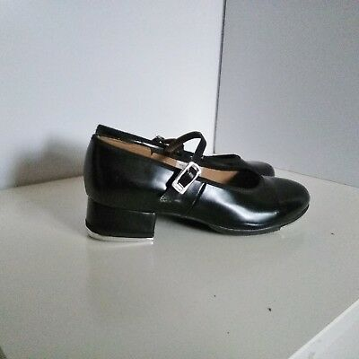 Bloch Tap-On Girls Black Shoes Size 1.5