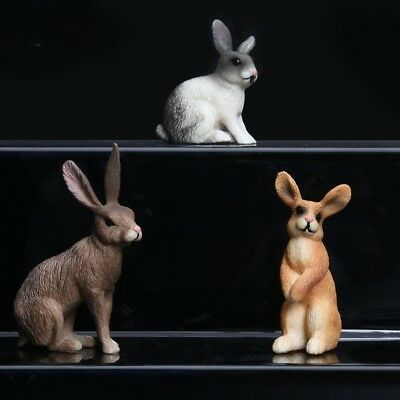 PVC Farm Animals Model Action Figures - Rabbit, Hare Kids Nature Learning Toys