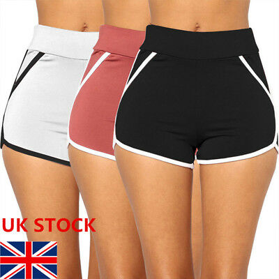 Women Sports Shorts Casual Ladies Beach Summer Running Gym Yoga Hot Pants 6 - 14
