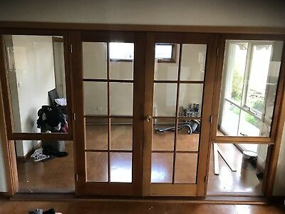 French Doors Ceadar With Side Windows