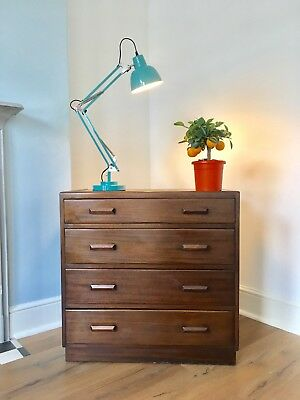 Art Deco chest of drawers very pretty with elegant handles mid century stunning