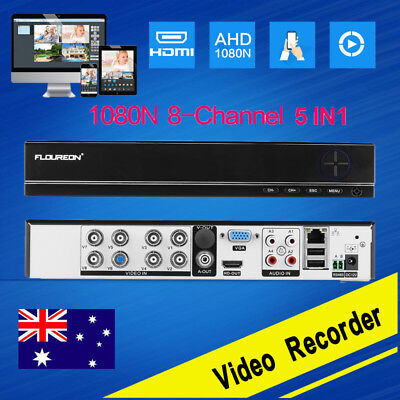 5 IN 1 DVR NVR 8CH Channel 1080N AHD HDMI Video Recorder CCTV Security System AU