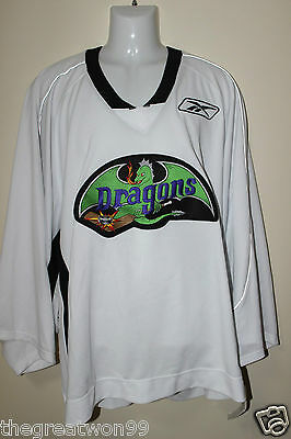 NHL/AAA Detroit Dragons #34 XL White Practice Ice Hockey Jersey by CCM/RBK