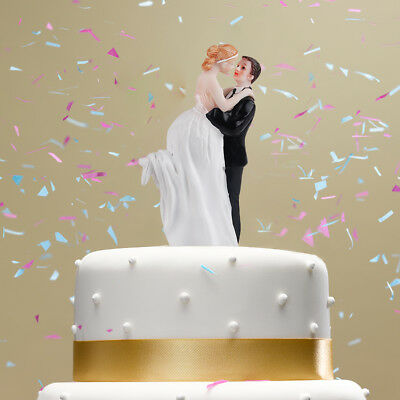 Happy Bride and Groom Couple Wedding Cake Toppers Resin Figurines Party Supply