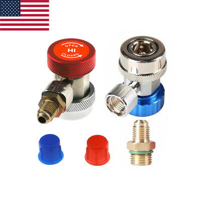 AC R134A Quick Connector Adapter Coupler Auto A/C Manifold Gauge Low/High HVAC