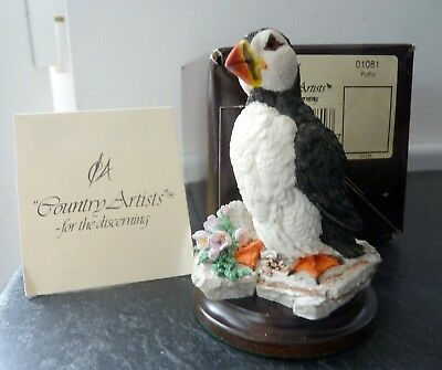 COUNTRY ARTISTS BIRD FIGURE DEPICTING A PUFFIN Ref No 01081