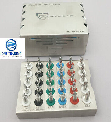 Dental Implant Conical Drills Kit with Stopper Set of 30 PCs/ Implant Kit 3p