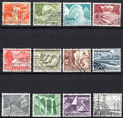 Switzerland 1949 - mi.nr. 529-540 - Postmarked - LANDSCAPES COMPLETE SET (B8)