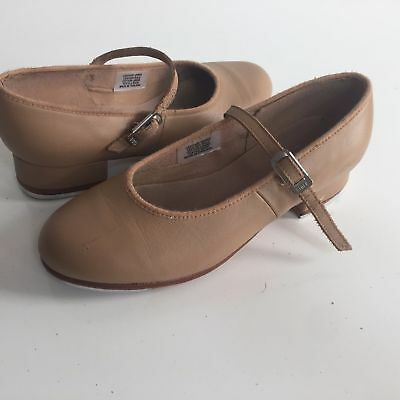 BLOCH Techno Tap Shoes Girls Size 4.5 N Youth Dance Leather Tan